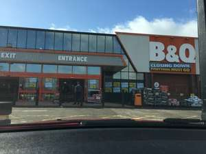 B&Q 10 - 25% off everything in  store (Burnage) + others