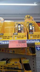 Rolson 3W Z5 Work Light £5 @ B&M instore
