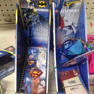 Batman & superman keyrings £1 @ poundland