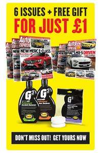 6 issues of Autoexpress for £1+ Free G3 pro scratch and restorer gift