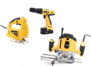 Router, Jigsaw and Drill Tool Bundle - £29.99 - eBuyer