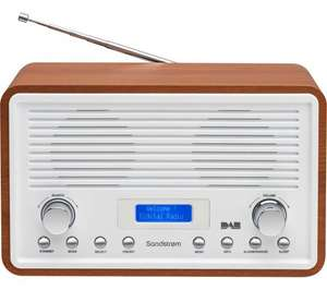 SANDSTROM SDR15 DAB/DAB+ & FM Clock Radio - Walnut & White - Was £69.99 Easter Deal @Currys £40 OFF - Now: