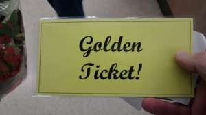 Golden Ticket giveaway @Tesco