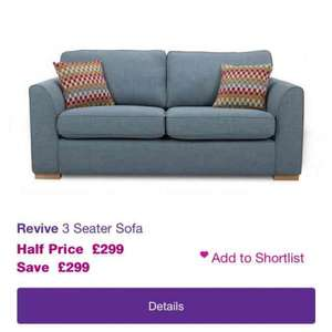 DFS Revive 3 seater sofa £299