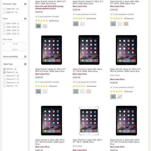 iPad Air / Air 2 price reductions @ John Lewis