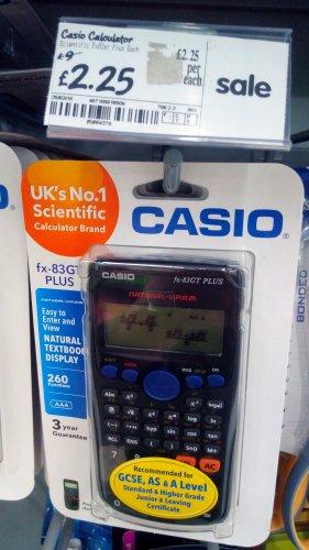 Casio FX-83GT PLUS Scientific Calculator £2.25, ASDA instore
