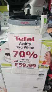 Tefal Actifry 1kg White (refurbished) £59.99 @ Tefal Lowry Outlet Salford