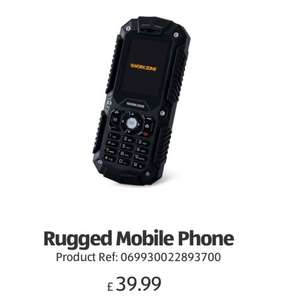 Rugged Mobile Phone dual sim / 3G £39.99  @ Aldi - from 31st March - free delivery £39.99