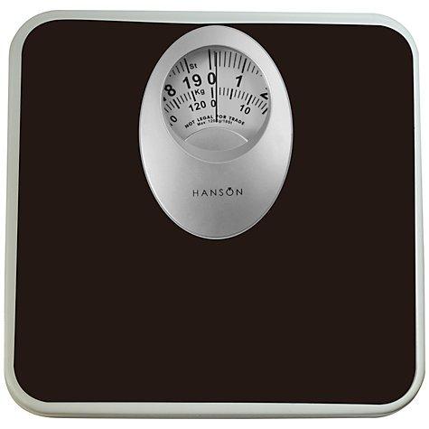 Hanson Mechanical Bathroom Scale,Black or white £2.50 John Lewis - £2.00 c&c / £3.50 del