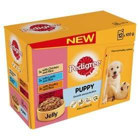 12 pack of Pedigree Puppy Pouches @ ASDA for £3