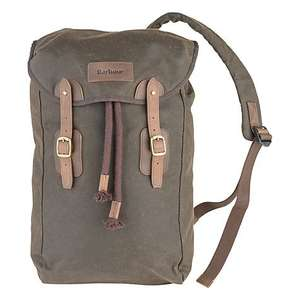 Barbour Waxed Cotton & Leather Backpack, Olive, John Lewis, £74.50 delivered (was £149)