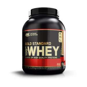 Optimum Nutrition 2.24Kg Chocolate Peanut Butter Gold Standard Whey Powder at Amazon for £27.99