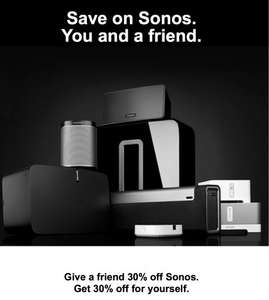 30% off SONOS (email invite) possibly for registered customers