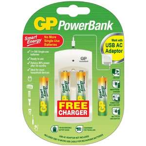 GP Batteries & USB Charger Pack £3.00 @ Mole Valley Farmers (Scats)
