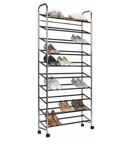 10 Shelf Rolling Shoe Rack £22.49 @ Argos Free C&C