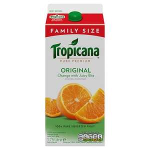1.75 Litres BIGGEST SIZE Tropicana Orange/Apple juices ONLY £2 @ Tesco