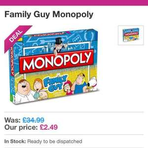 family guy monopoly board game £2.49 bbcshop