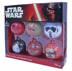 Star wars return of the Jedi 6 christmas baubles was £19.99 now £1.99 delivered @ bbc shop
