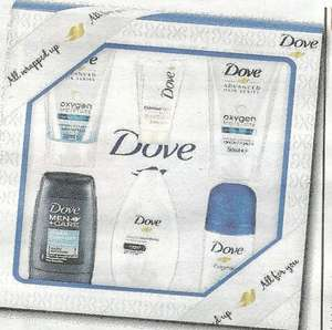 "Free Dove Treat Pack ""Worth £5"" - Daily Mail (90p) Saturday 2nd April - Voucher redeemable at Tesco - See Deal description for pack contents"