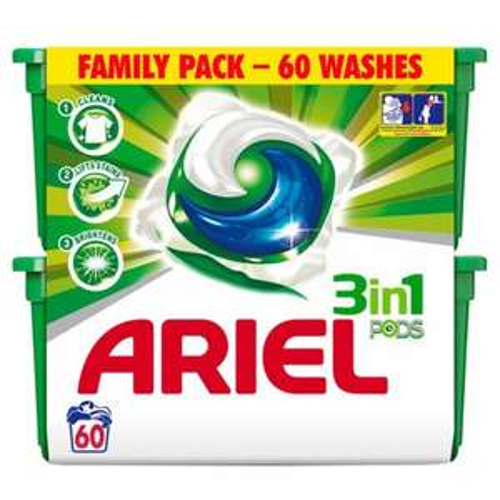 Ariel 3in1 Bio Washing Capsules 60 per pack £8.99 @ Home Bargains