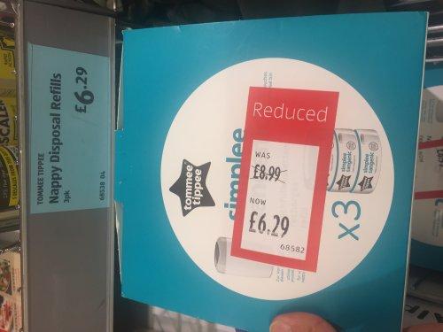 Tommee Tippee Nappy disposal refills 3 pk £6.29 @ Aldi
