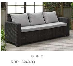 £169.99 Allibert California 3 Seater Sofa - Graphite with Grey cushions £169.99 @ Amazon