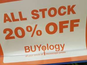 20% off all stock in Buyology Southampton