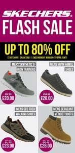 Skechers (up to) 80% off Sports Direct (£4.99 c&c / del)