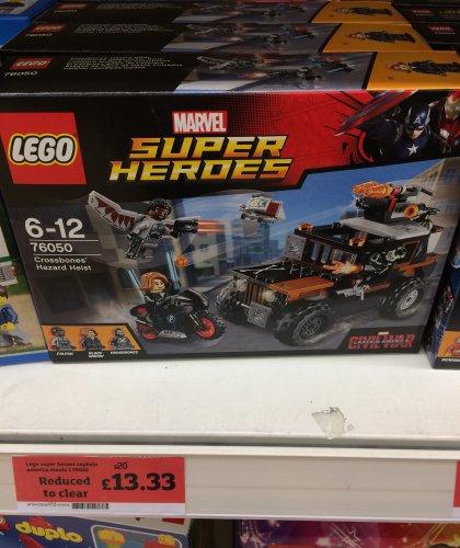 "Lego Marvel Civil War ""Crossbones' Hazard Heist"" (76050) £13.33 in store @ Sainsbury's"