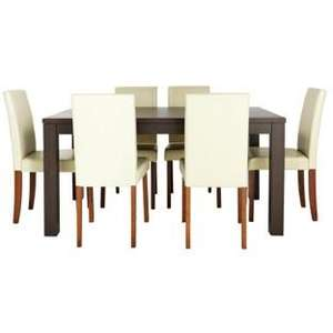 dining table and 6 chairs (black/cream/chocolate) only £168.94 delivered (down from £499) at Argos (using code)