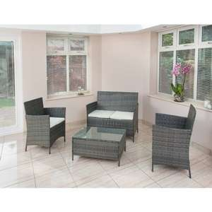 Sorrento Rattan Effect Sofa Set 4pc at B&M for £149.99