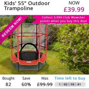 Trampoline with safety net at Wowcher / Oypla for £39.99 + £9.99 P+P