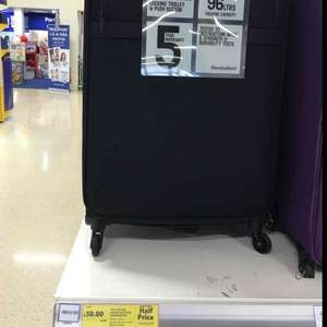 R B Y antler Calais suitcase large black half price at tesco instore - £30
