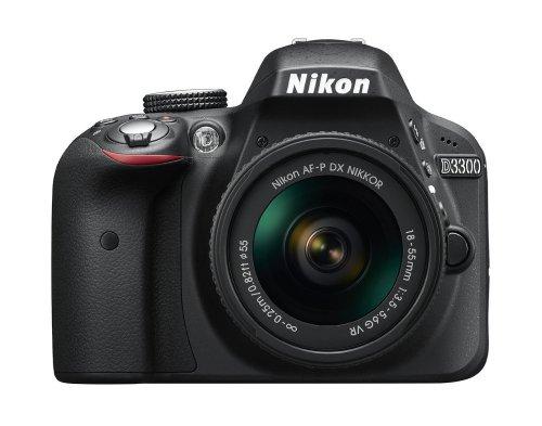 Nikon D3300 Digital SLR Camera (24.2 MP, AF-P 18-55VR Lens Kit, 3 inch LCD Screen) - Black  £269.99 from Amazon