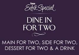 Asda 'Extra Special' range meal deal - 1 Main, 1 Side,1 Dessert, 1 Drink (Wine or Shloer Celebration White Bubbly and Pink Fizz Sparkling Juice Drink) FOR £10