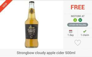 FREEBIE... 2 x Strongbow Cloudy Apple Cider (500ml) via Checkoutsmart & Clicksnap Apps - £1.25 @ Morrisons & Asda...