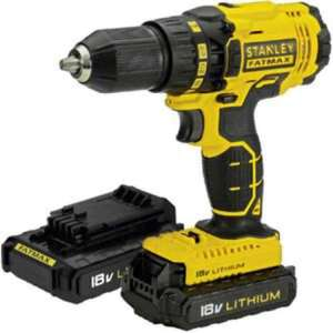 Stanley FatMax 18V Drill Driver with 2 x 1.3 AH Batteries, Fast Charger and Kitbox £64.44 @ Homebase (store collection only)