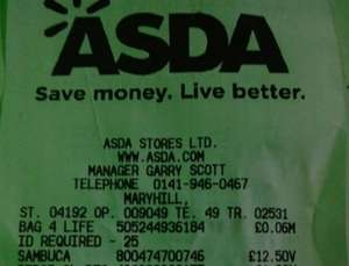 Antica Liquorice Sambuca ASDA Maryhill Glasgow £12.50