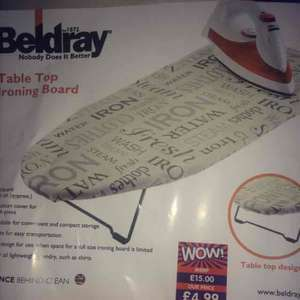 beldray table top ironing board only £1 @ B&M