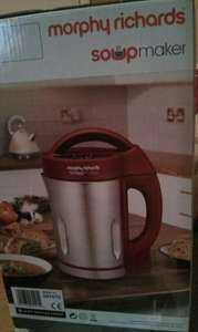 Morphy Richards 501015 Soup Maker - Red / Stainless Steel £25 instore at Morrisons (Birmingham)