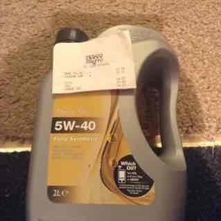 Tesco 5W-40 fully synthetic motor oil 2L £3.00 (Sunderland Metro)