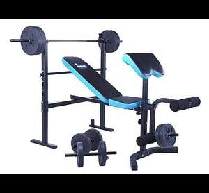 Men's Health Folding Workout Bench with 35kg Weights £99.99 @ Argos. RRP £219.99