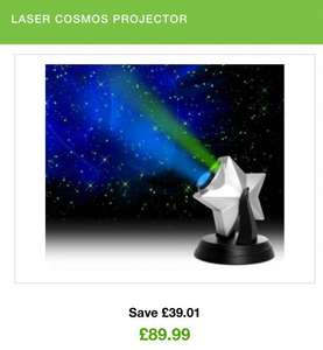 Laser star Cosmo projector £89.99 @ zavvi