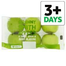 Tesco Granny Smith Apple Min 5 Pack 670G, reduced from £1.50 to £0.75 from 04/04/16.  Other half price fruit deals too including oranges, pomegranates and dried fruit - see 1st comment.