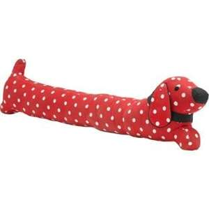 Dachshund Dog Shaped Draught Excluder in Red Half Price £6.49 C+C @ Argos