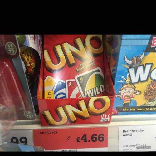 Mattel Uno cards £4.66 @ Sainsburys