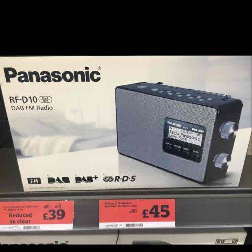 Panasonic RF-D10 DAB radio £45 sainsburys