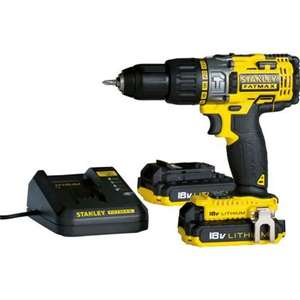 Stanley Fatmax 18V Cordless Hammer Drill with 2 x 2.0Ah Batteries, Fast Charger and Kitbox - FMC625D2 £65 @ homebase - instore only?