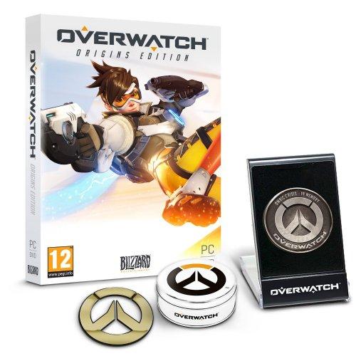 Overwatch Origins Edition - Exclusive 'Memory of War' Metal Coin & Metal Badge Bundle £37.99 (Amazon Exclusive) (PC DVD)