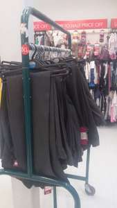 girls school trousers 2 pack in sainsburys for 50p